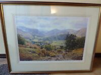 Keith Melling Borrowdale Signed print. Framed