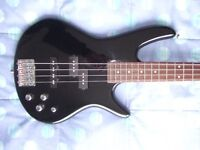 Ibanez GSR200-BK Soundgear Bass Guitar with Phat-II Active Electronics in Excellent Condition
