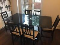 Dining table and 6 chairs - collection only - cheap