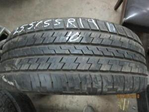 255/50R19 SINGLE ONLY USED CONTINENTAL A/S TIRE