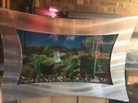 Wall Mounted Aquarium Fish Tank with Light Filter Heater in Excellent condition