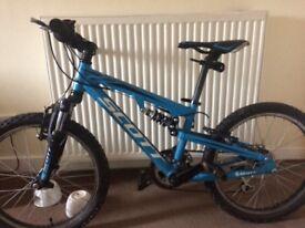 Kids full suspension bike