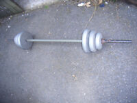 Weight lifting Bar & weights.