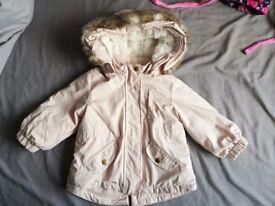Girls Coat 9-12 H&M