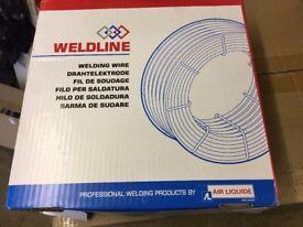 WELDLINE 1.0mm x 15KG Precision Layer Wound Copper Coated Mild Steel Mig Wire