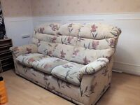 3 and 2 seater sofas ( Cream Floral) great condition