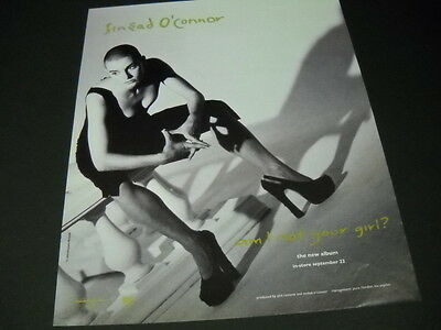 SINEAD O'CONNOR asks AM I NOT YOUR GIRL 1992 PROMO POSTER AD mint condition