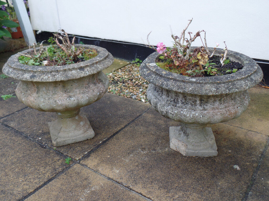 Stone Planters x 2 (will sell as a pair or individually - see ad for prices)
