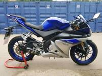 Yamaha yzf r125 abs 16plate 500 miles from new