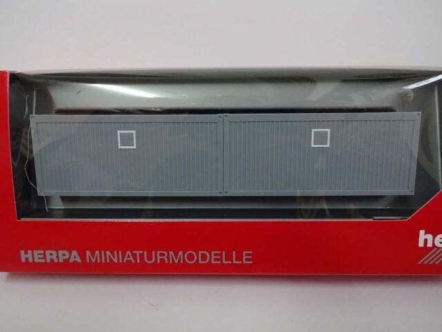 Baucontainer 2er-Set 2x20 ft. Container Herpa 053600 H0 1:87 Neu
