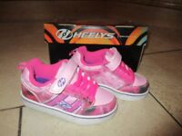 Heelys immaculate condition girls size 12 with lights, complete with box and instructions