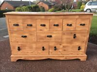 Large Sideboard - Large Pine Effect Sideboard - Multi Draw Sideboard - Reduced - see notes
