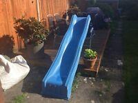 Blue wavy blue slide