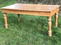 5 1/2ft pine farmhouse style kitchen dining table