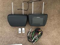 Car headrest monitors x2