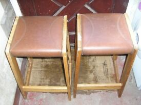 PAIR OF VINTAGE 1960s STOOLS