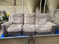 Reclining sofa with cuddle chair
