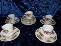 China teacups and saucers