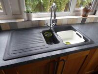 'Carron Pheonix' Composite Sink & Polished Chrome Swan Neck