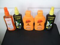 sun tan lotion and oil assortment