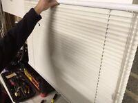 White slatted blinds