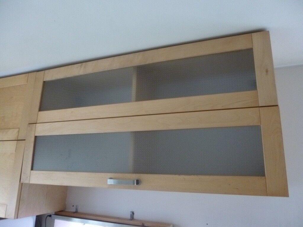 Large bi-fold Ikea Varde wall cabinet frost glass doors ...