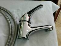 Basin mixer tap chrome quality item with fittings
