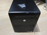 HP Proliant N40L Microserver - 1.5GHz AMD Turion II Neo, 8GB RAM - no hard drives.