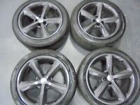 18inch GENUINE S LINE gunmetal audi A4 A5 b8 ronal 5x112 alloys wheels vw golf mk5 caddy a3 t4 t3 for sale  Bradford, West Yorkshire