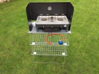 Camping cooker/grill with stand