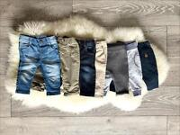 Trousers bundle x 7 PERFECT condition 0-3