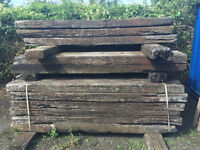 60 Railway sleepers for sale at £6.00 each, cash only, collect at Patchway, Bristol