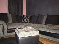 6 person corner suite with swivel chair and feet rest