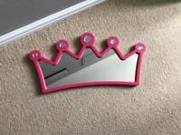 Pink Princess Crown Mirror
