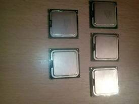 five intel cpu,s all good