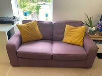 Purple sofa bed £150 John Lewis
