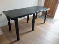 Black Plastic Decorating Table.
