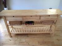 Dining room storage console table