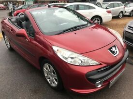 2007/07 PEUGEOT 207 CC 1.6 HDi FAP SPORT 2DR RED ,FULL BLACK LEATHER INTERIOR,GREAT ECONOMY,
