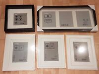 5 black and white photo / pictures frames from Ikea