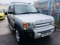 LANDROVER DISCOVERY 3 AUTOMATIC 2.7 TDV6 HSE DIESEL 7 SEATERS SILVER 2005 SATNAV LEATHER