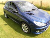 Peugeot 206 gti 54 plate One owner