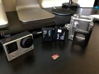 GoPro Hero 4 Black Edition 4K + 64GB SD card, 2 Battery