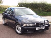 BMW E39 520i SE Saloon, Manual, 2000 / X Reg, Dunkel Blue, No MOT