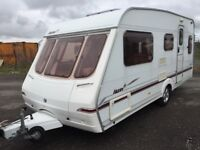 Swift Islay 5 berth 2004/3 modell end double bed compartment that can be left down or put up as a