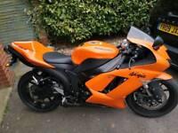 Zx7r 2007 orange. 5000 miles