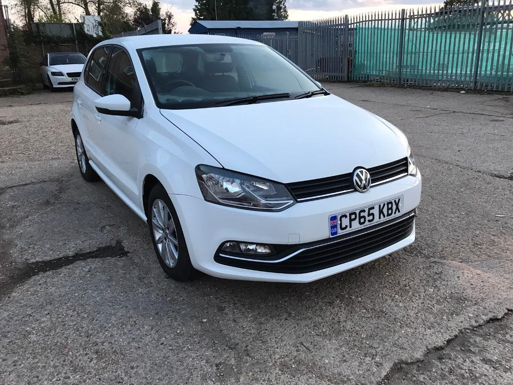 2016 vw polo white 1 2 tsi blue motion tech se hatchback cat d 1 year mot low mileage 5000 2. Black Bedroom Furniture Sets. Home Design Ideas