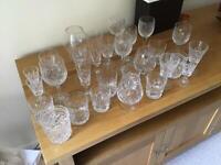 Approx 30:Cut Glass glasses