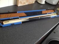 Snooker cue & case