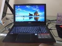 15.4 Inch GTX 960m i5-6300HQ 128 m.2 SSD 1TB HDD, USB C, USB 3.0 Killer Wifi/Lan 4 Months Old